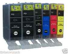 6 Ink cartridges for Canon Pixma MP640 IP4700 MP550  PGBK   BK   M   C   Y
