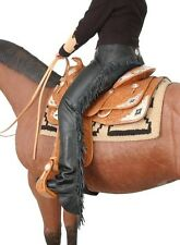 Tough 1 premium smooth leather black chaps size large horse tack equine