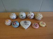 Collection Of 9 Vintage Ceramic potpourri Pomanders. pierrot heart and  balls.