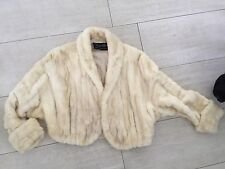 *** FUR *** Ivory mink fur crop jacket. Saks fifth avenue