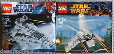 LEGO STAR WARS MINI SETS 30056 30246, IMPERIAL STAR DESTROYER & SHUTTLE NEW