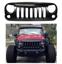 Front Matte Black Angry Bird Grill For 2007-2016 Jeep Wrangler New Free Shipping