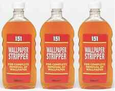 3 x 151 Wallpaper Stripper Liquid For Complete Removal Of Wallpaper, 500ml Each