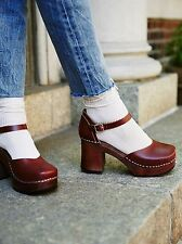 New Free People Swedish Hasbeens Inga Clog Cognac 39 EU, 8 US $249