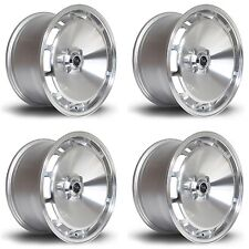 4 x ROTA D154 SILVER POLISHED FACE RUOTE IN LEGA - 16x8 "