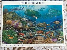 USPS Pacific Coral Reef-Full Sheet-6th, Northeast Deciduous Forest 7th in series