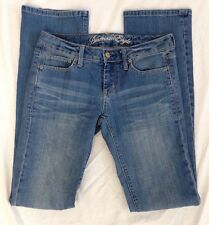 Women's AMERICAN EAGLE Jeans True Boot Medium Wash Faded/Whiskered Size 2 Long