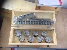 HSS Räumnadel Set 16/18 mm Stoßräumnadel mit Beilagenblättchen und Buchsen