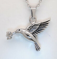 HUMMINGBIRD CREMATION JEWELRY BIRD URN NECKLACE MEMORIAL KEEPSAKE PENDANT URN