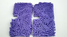 Coral Shark Standard Size Steam Purple Duster Microfiber Cleaning Pads,Set of 2