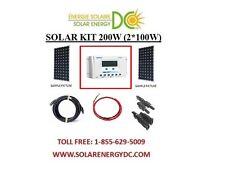 Solar Panel KIT Panneau Solaire 200W 200 Watt (2 * 100 W) 30A controler poly 12V