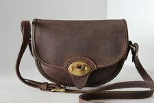 RARE Vintage DOONEY & BOURKE Brown FLAP Cavalry CROSS BODY MESSENGER SADDLE BAG