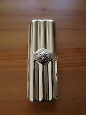Silver Plated Travel Triple Cigar Case - Silver and Gold Plated Golf Club