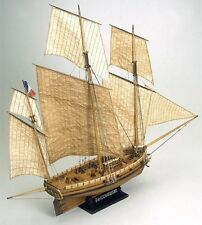 """High Quality, Detailed Wooden Model Ship Kit by Mamoli: the """"Le Coureur"""""""