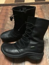 Nice! KEEN Dry Boots Waterproof RARE Black Stretch Bungee Lace Zip Women 7.5