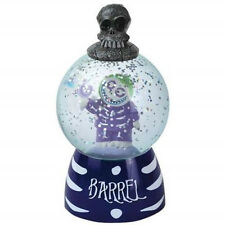 Nightmare Before Christmas Barrel Figure Lighted 55mm Sparkler Water Globe NEW