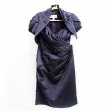 White Rose - Purple Satin 2-Piece Dress with Bolero Jacket - Lapis - Size 12