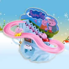 Peppa Pig Amusement Manual Climb Stairs Track Set Toy For Kids Children Gift