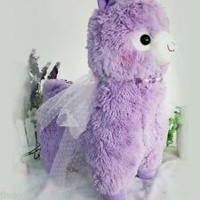 Japan Amuse Arpakasso Alpacasso Alpaca Purple With Ribbon Sheep Plush Toy 18""