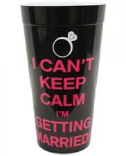 Bachelorette Party Supplies I Cant Keep Calm Im Getting Married Cup Black Pink