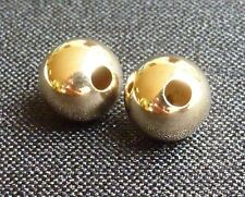 Solid 14K gold  beads 4mm round beads  beading supplies jewelry supplies