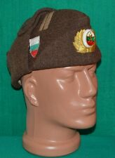 Bulgarian Army MAJOR Officer WINTER WOOL FRIEZE Uniform CAP w/t Badge