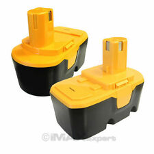 2 x 18V 2.0AH Ni-Cd Battery for Ryobi 1322705 1322401 1400672 130256001 B-1815-S
