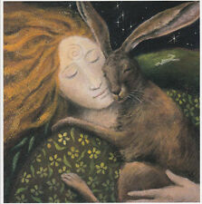 PAGAN WICCAN GREETING CARDS Hare Huggle GODDESS CELTIC Nature WENDY ANDREW