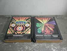 VINTAGE MAGNAVOX ODYSSEY 2 THUNDERBALL SPEEDWAY SPIN OUT VIDEO GAME LOT W/BOXES