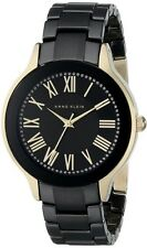 Anne Klein Watch * 1948BKGB Black & Gold Steel Ceramic Women COD PayPal