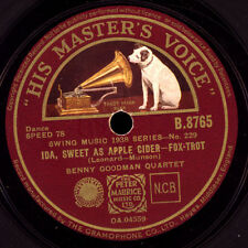 BENNY GOODMAN QUARTET  Ida, sweet as apple cider / Dizzy spells   78rpm  X1982