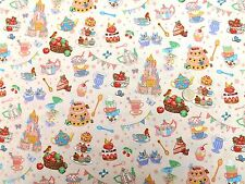 Princess Teaparty  High Tea fabric fq 50x56 cm Nutex 89060-3