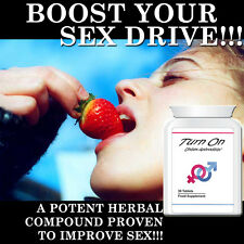 TURN ON APHRODISIAC PILLS HORNY TABLETS SAFE NATURAL HERBAL ENHANCE SEX LIFE