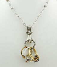 NEW SWEET ROMANCE VICTORIAN STYLE HAND HOLDING RINGS NECKLACE~~MADE IN USA~~