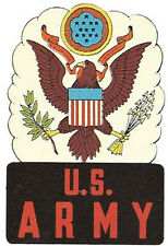 US Army   Vintage-Looking 1950's Travel Decal
