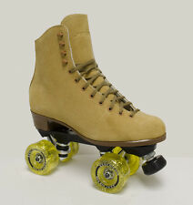 SURE GRIP VINTAGE TAN SUEDE INDOOR ROLLER SKATES - SIZE 6 (& OTHER SIZES!)