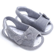 Summer Bowknot Newborn Girl Toddler Baby Soft Sole Shoes Crib Prewalker Shoes 12