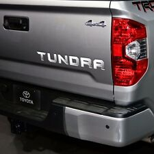 2014-2015 Toyota TUNDRA Tailgate Rear Vinyl Letters Chrome Inserts Stickers Trim