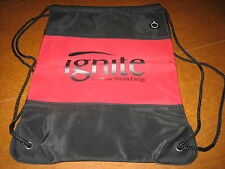 Ignite powered by Stream Energy New Red & Black Drawstring Backpack