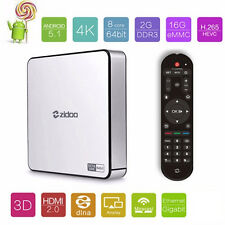 Zidoo X6 PRO Smart Android 5.1 Box TV RK3368 Noyau Octa Mini PC 4K Wi-Fi XBMC