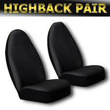 Universal Solid Black Pair Highback Seat Covers Bucket Universal 2pc Front