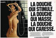 PUBLICITE ADVERTISING  054  1978  HANSGROHE  robinetterie douche  ( 2  pages)