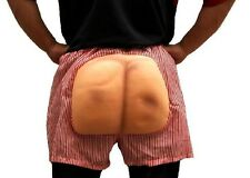 Fake Bottom Butt Ass Arse Buns Red Striped Boxer Costume Halloween Party Dress