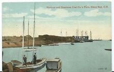 Vintage Colour Postcard Harbour/Dominion Coal Co.'s Piers Glace Bay Nova Scotia