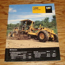 Original 1995 Caterpillar 120H Motor Grader Sales Brochure 95 Cat