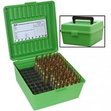 New! MTM Deluxe Flip-Top Ammo Box with Handle 100-Round Plastic R100MAG10