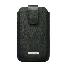 ORIGINALE Hugo Boss Black Chicco Pelle Custodia Cover Marsupio Adatto A Samsung C3222