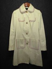 THE LIMITED AUTH 100% Cotton Ivory Ladies COAT / Jacket SZ S NEW