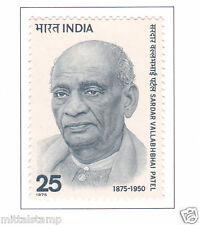 PHILA665 INDIA 1975 SINGLE MINT STAMP OF SARDAR VALLABHBHAI PATEL MNH