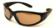New Unbreakable Wraparound Motorcycle Biker Sunglasses Brown Lens free pouch